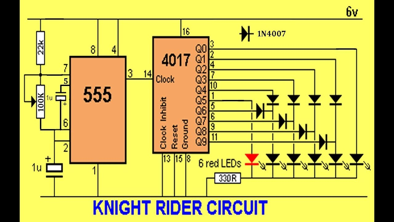 Led Knight Rider Circuit Circuits And Diagram T Oscillator 555 555circuit Seekiccom How To Make A Using Veroboard Part 1 3