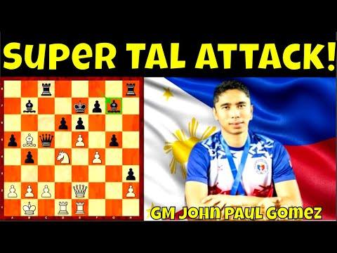 Pinaulanan ng Atake ni Filipino GM John Paul Gomez ang itinapat sa kanyang IM ng Mongolia!