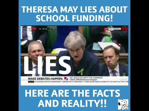 #pmqs-theresa-may-mislead-parliament-again-#schoolcuts-the-lies,-facts-and-reality-#enoughisenough