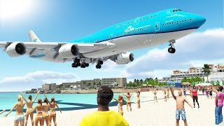 DANGEROUS PLANESPOTTING!! Saint Maarten Princess Juliana International Airport (TNCM) | X-Plane 11