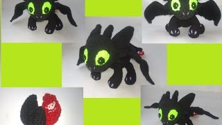 Беззубик амигуруми.Игрушка Ночная Фурия крючком.Обзор игрушки амигуруми.Вязание крючком.