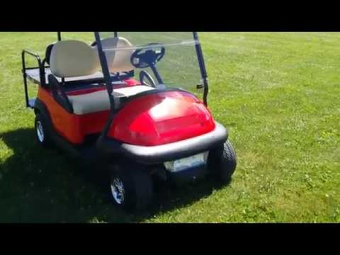 Cherry Red Club Car Golf Cart For Sale From SaferWholesale.com