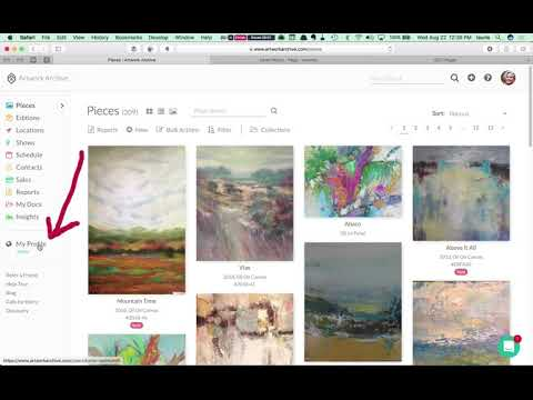 How to Embed Artwork Archive on FASO