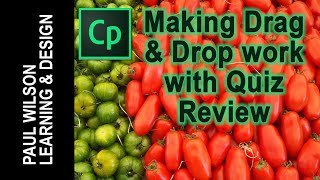 Adobe Captivate - Making Drag & Drop Work with Quiz Review