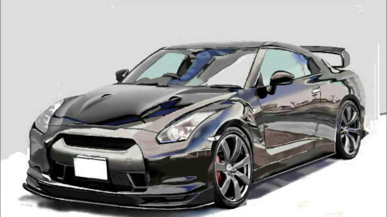 How To Draw A Car Nissan Gt R 車のイラスト Youtube