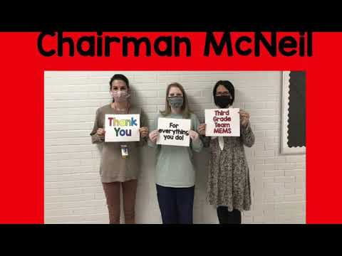 Thank you, Marlboro County School Board Members from the staff of McColl Elementary Middle School ??