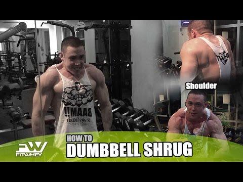 สอนท่าเล่น Dumbbell Shrug สำหรับฝึกบ่า - DANNY