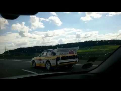 Audi Quattro S1 on German Autobahn + MY reaction