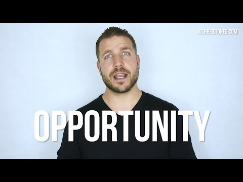 What Is Opportunity? What Does Equality Of Opportunity Look Like? Josh Reid Jones