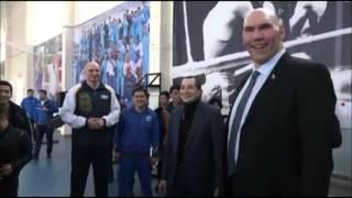 Николай Валуев в Астане - встреча с национальной сборной Казахстана по боксу