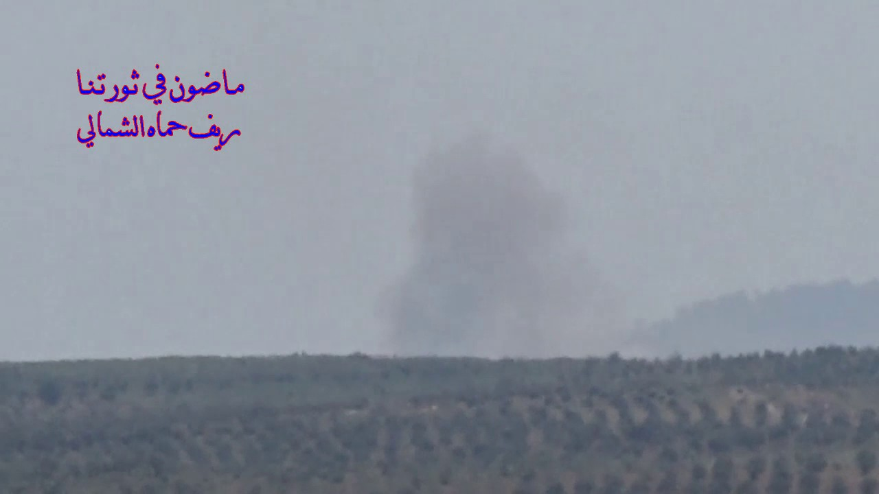 Dozen of airstrike on Taibat al-Imam town in Northern Hama