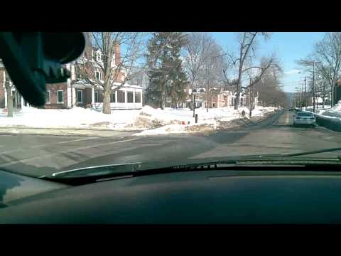 Ride-Along through Downtown Amherst, MA