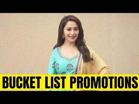 Madhuri Dixit promoting her marathi film Bucket List