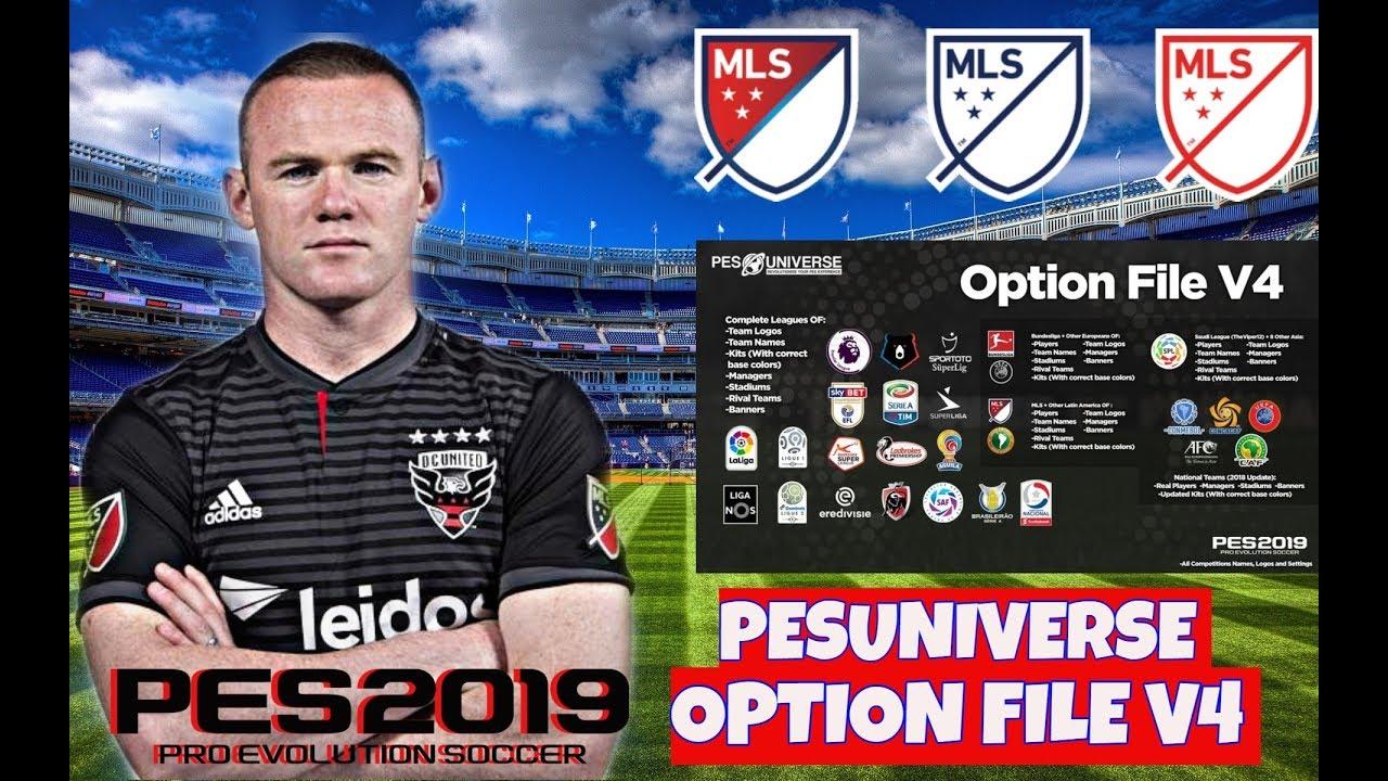OPTION FILE PES 2019 (PS4/PC) INSTALACION V4 PESUNIVERSE