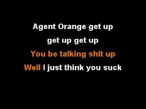 Agent Orange by Slapshock Instrumental cover with lyrics (Virtual guitar  used)