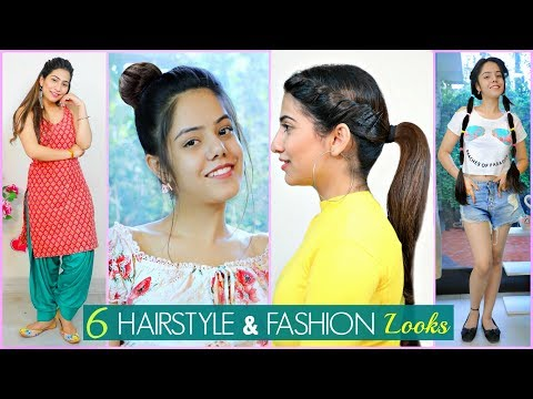 6 Easy HAIRSTYLE & FASHION Looks For Teenage/College Girls | #Partylook #Beauty #Anaysa thumbnail