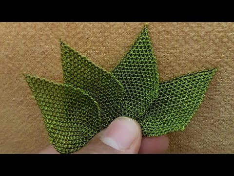 Yeni Tasarım İğne Oyası Yaprak Modeli Yapılışı Anlatımlı Videolu