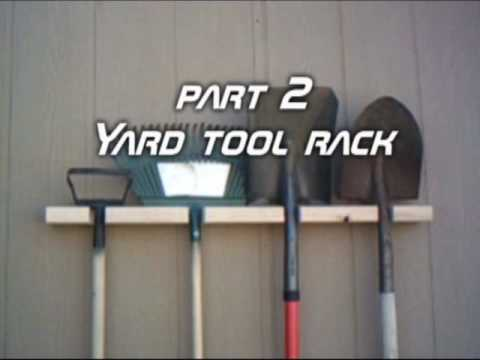 Things You Can Make With A 2x4 Part 2 Yard Tool Rack Youtube