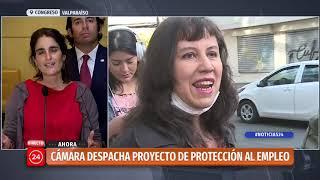Ministra Zaldívar valora aprobación de proyecto de protección al empleo