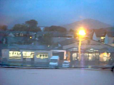 I'm in Keswick, and it's raining like mad