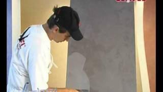 Нанесение декоративного покрытия АРАБЕСКО. Видео