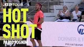 Fognini Wins Point From Way Downtown in Hamburg   HOT SHOT   ATP