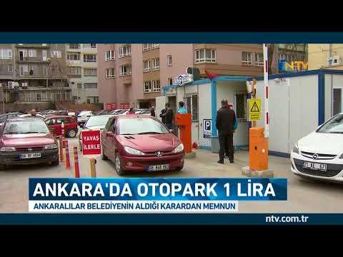 Ankara'da otoparklar 1 TL