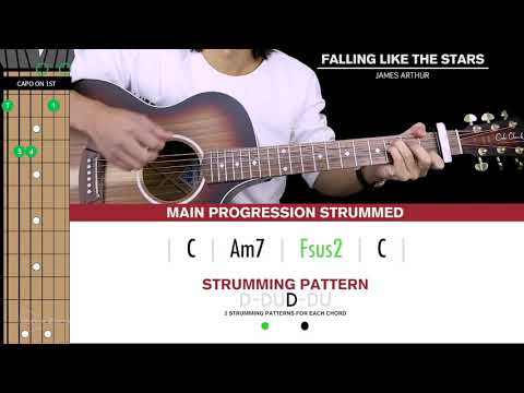 Falling Like The Stars Guitar Cover James Arthur  🎸 |Tabs + Chords|