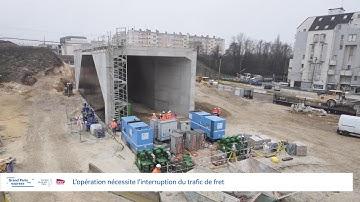 Timelapse à Champigny : la construction et le ripage du pont-rail résumés en 3 min