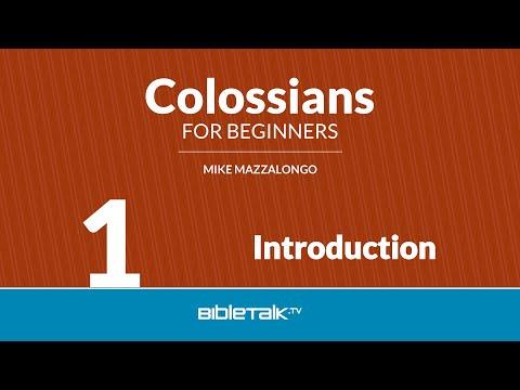Colossians Bible Study - #1