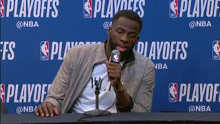 Draymond Green Postgame Press Conference | Spurs vs Warriors - Game 3 | 2018 NBA Playoffs