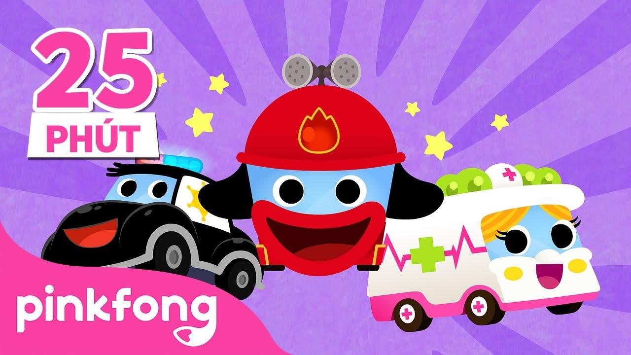Đội cứu hộ siêu xe   +Bộ sưu tập   Bài hát về Xe hơi   Pinkfong! Cá mập con - Nhạc thiếu nhi