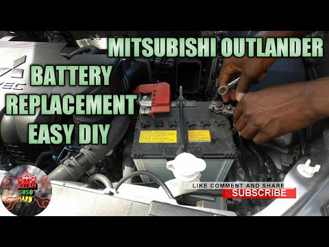 mitsubishi outlander battery replacement and how to jump start