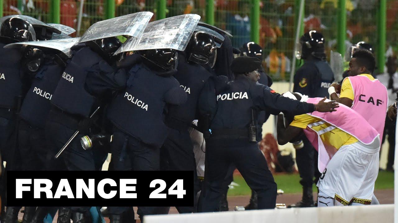 CAN-2015 : Gaz lacrymogène, hélicoptère, scènes de chaos lors de Guinée équatoriale - Ghana