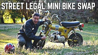 Honda Trail 70 125cc 4 speed Swap!