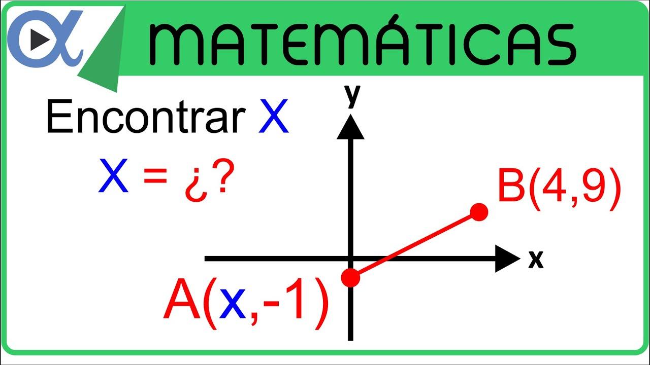 Hallar la abscisa (x) si la distancia entre los puntos de ...