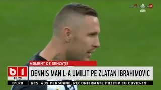 MOMENT DE SENZATIE  LA FOTBAL- DENNIS MAN L-A UMILIT PE ZLATAN IBRAHIMOVIC_Stiri