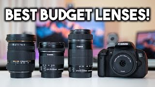 Top 5 BEST Budget Canon Lenses! My Canon Lens Collection |  BTS #2