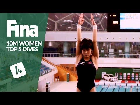Top 5 Dives Women's 10m Final | FINA/NVC Diving World Series - Beijing 2017
