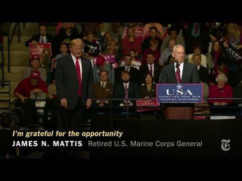 Trump Welcomes Mattis as Defense Secretary