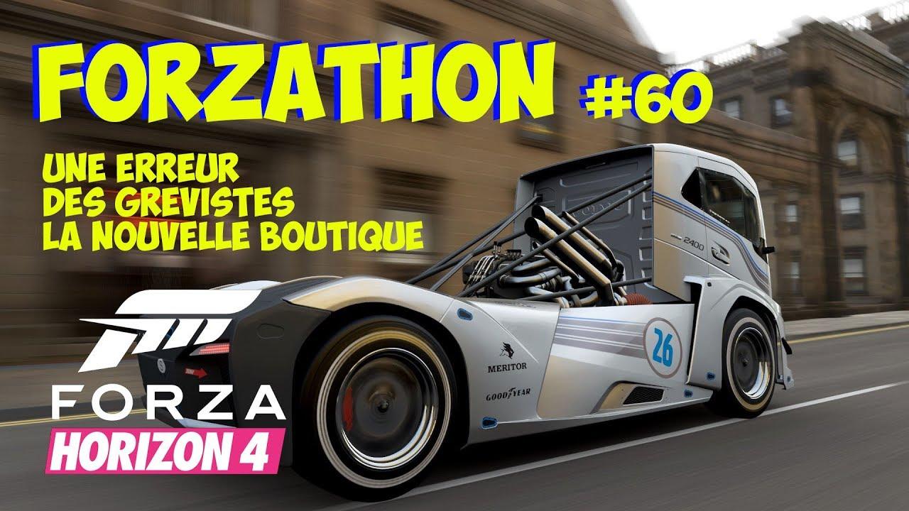 Forza Horizon 4 Forzathon - Nouvelle boutique - Bug