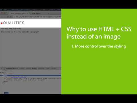 Why To Use HTML And CSS Instead Of Images