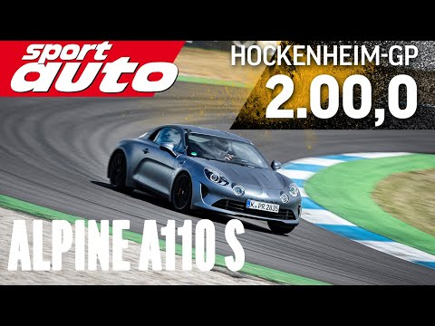 Alpine A110 S | Hot Lap Hockenheim-GP | sport auto