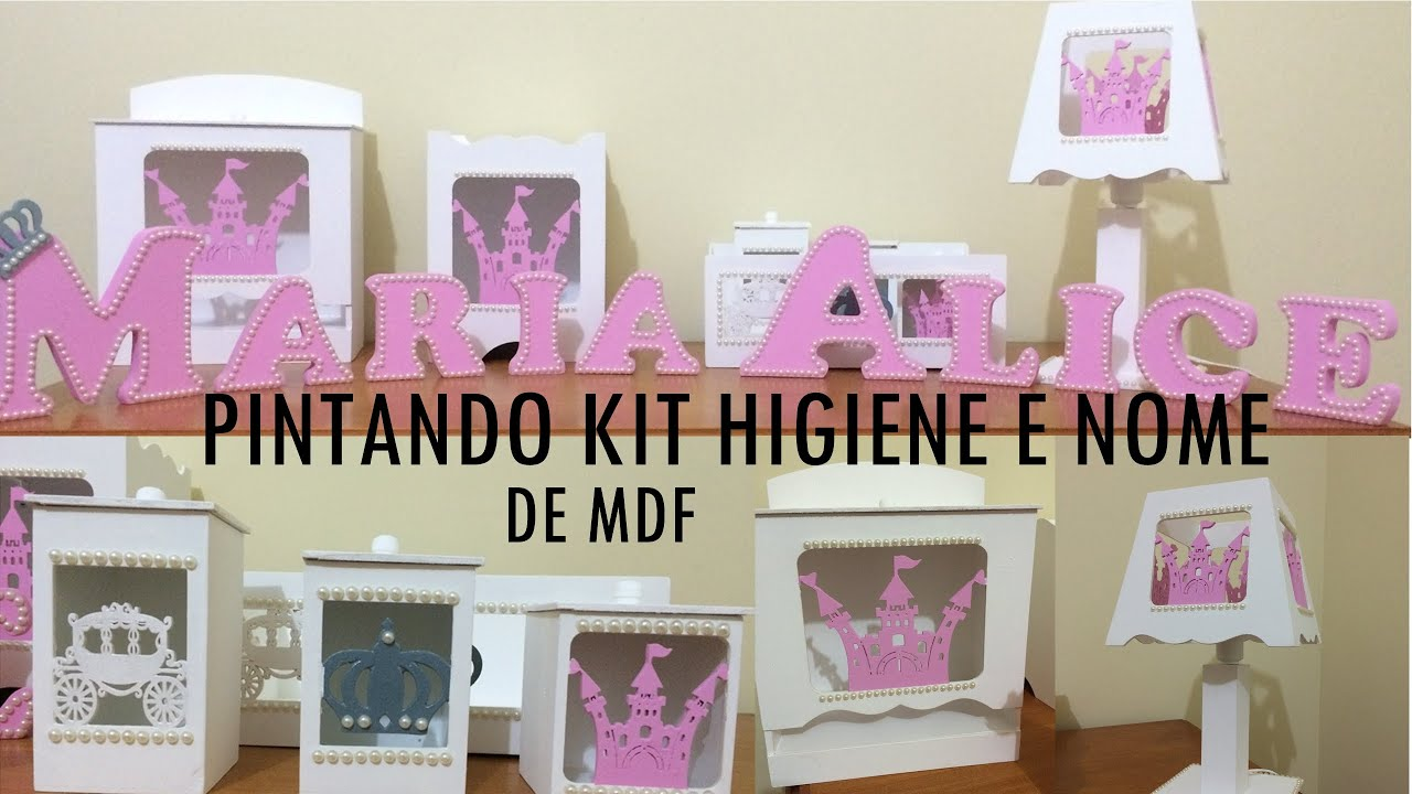 DIY Como fazer kit higiene em MDF   Nome   #913A78 2560x1440