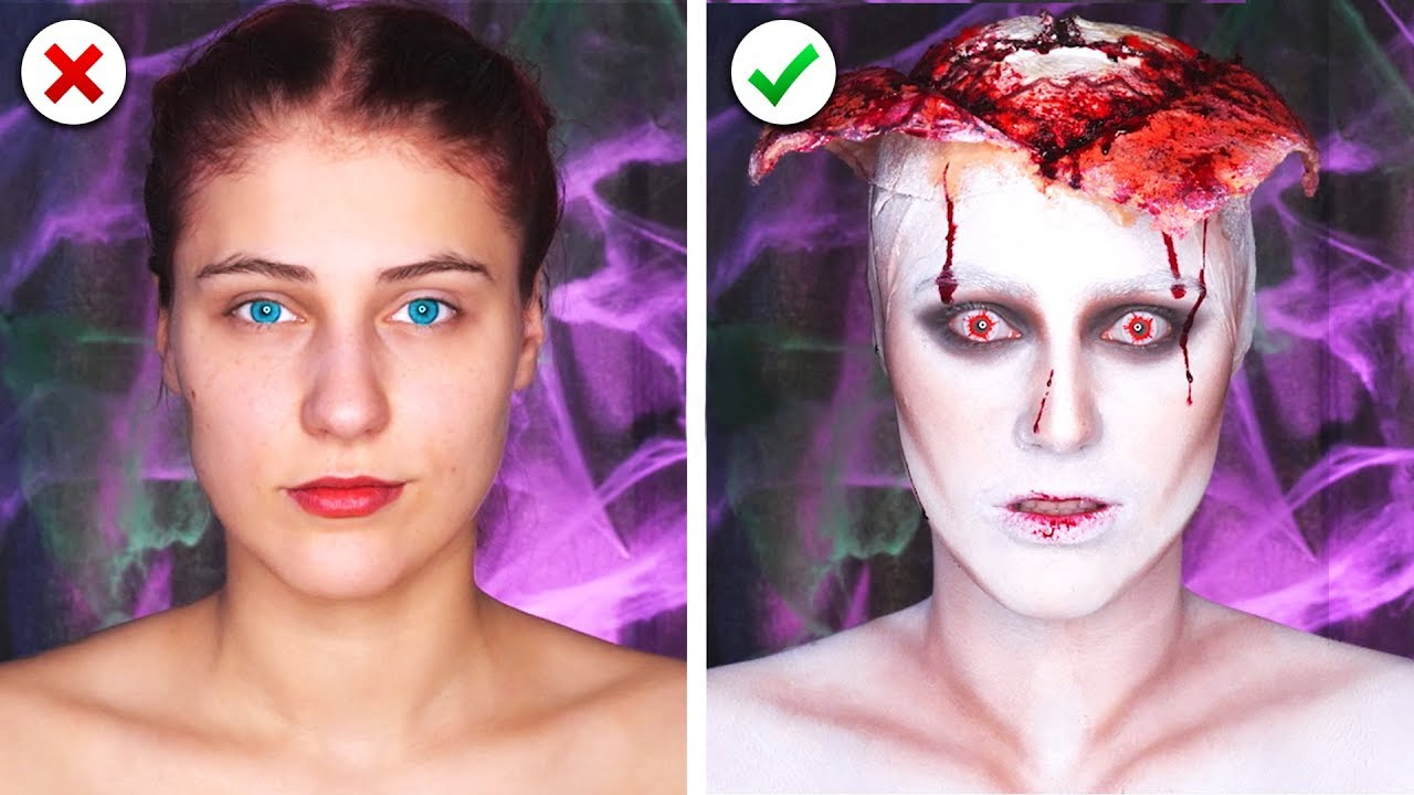 [VIDEO] - 6 Scary Last Minute Halloween Makeup and Costume Ideas 9