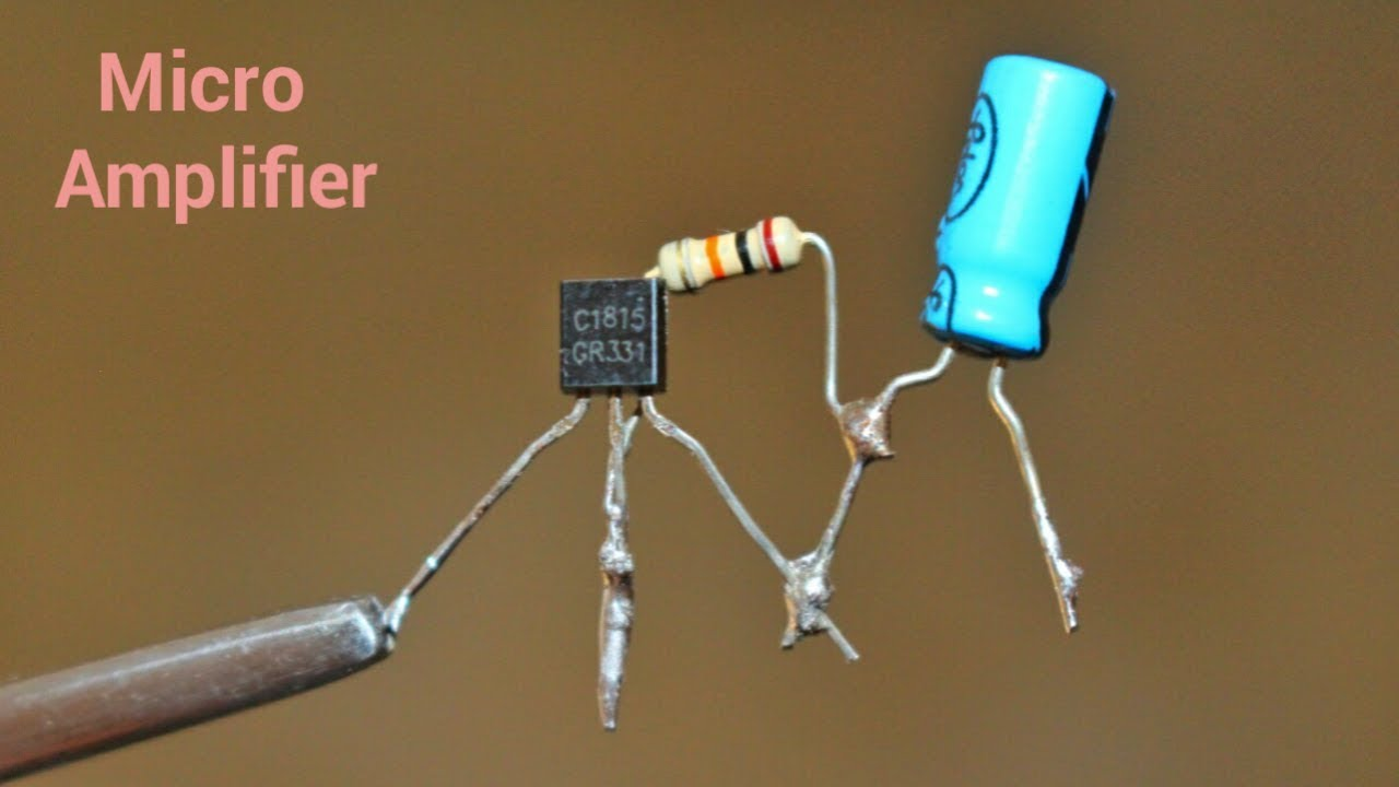 Make A Mini Amplifier By Using C1815 Single Transistor Youtube Microphone Circuit Diagram 1 Speaker Audiocircuit