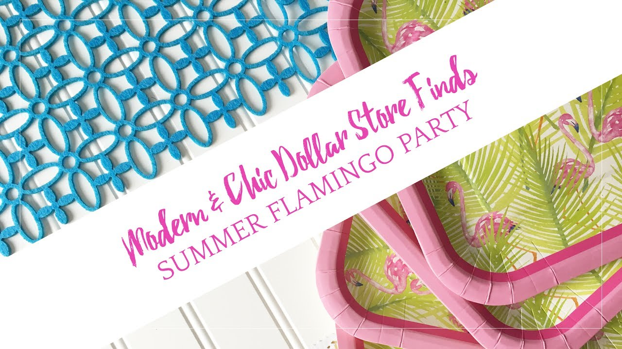 Dollar Store Challenge: Summer Flamingo Bridal Shower Party - YouTube