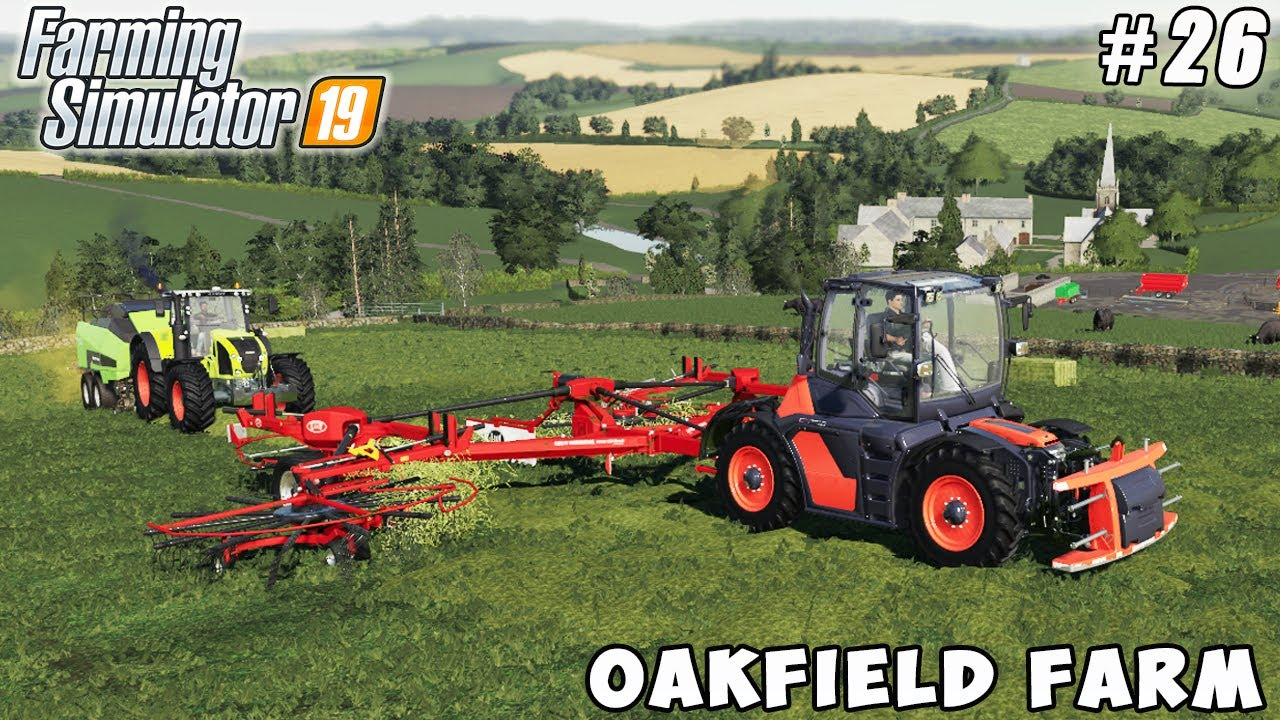 Baling hay, picking & transporting, wheat harvest | Oakfield