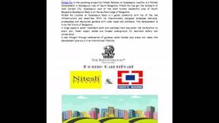 Nitesh Rio Plots Pre Launch Kanakapura Road Bangalore