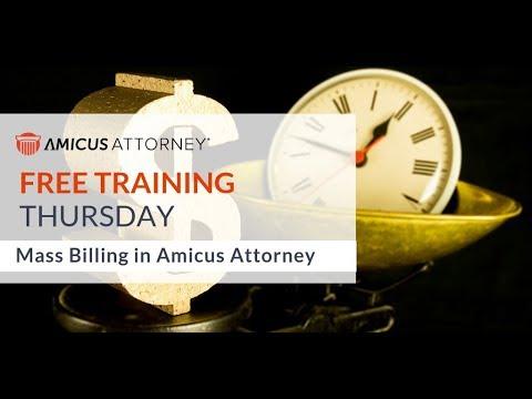 Amicus Attorney Mass Billing